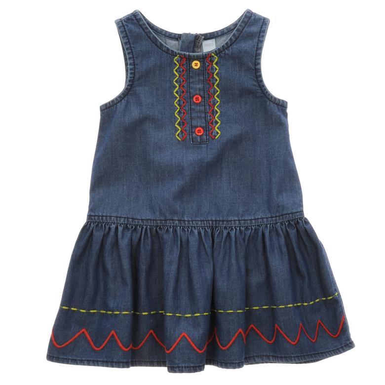 Kız Çocuk Denim Elbise 1712635100
