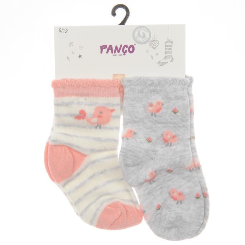 Kız Bebek 2 li Çorap 1813627108