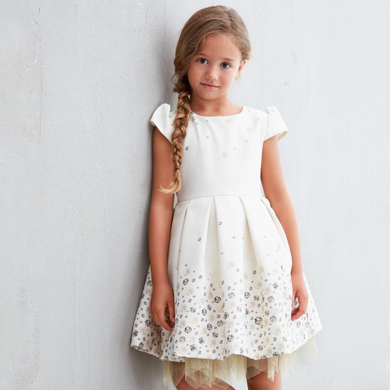 682dbc7e46552 Bej Kiz Çocuk Abiye Elbise Kız Çocuk Abiye Elbise 18226011100 - Panço