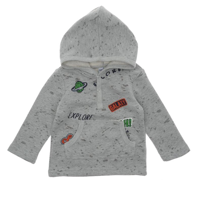Erkek Bebek Kapşonlu Sweatshirt 18216072100