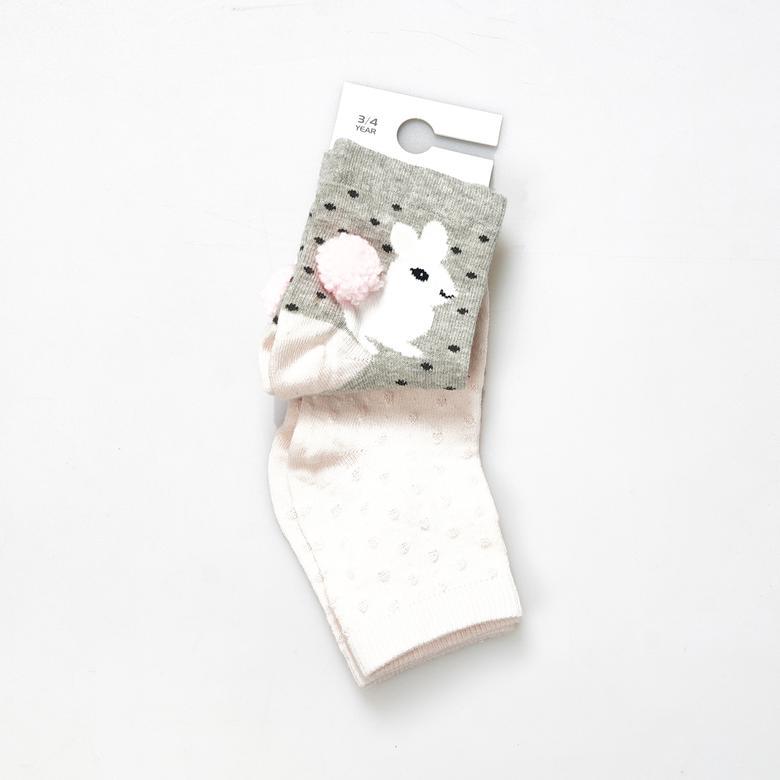 Kız Çocuk 2 li Çorap 19136041108