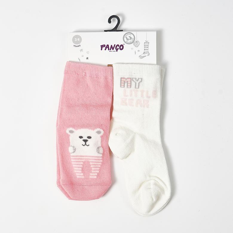 Kız Bebek 2 li Çorap 1813625108