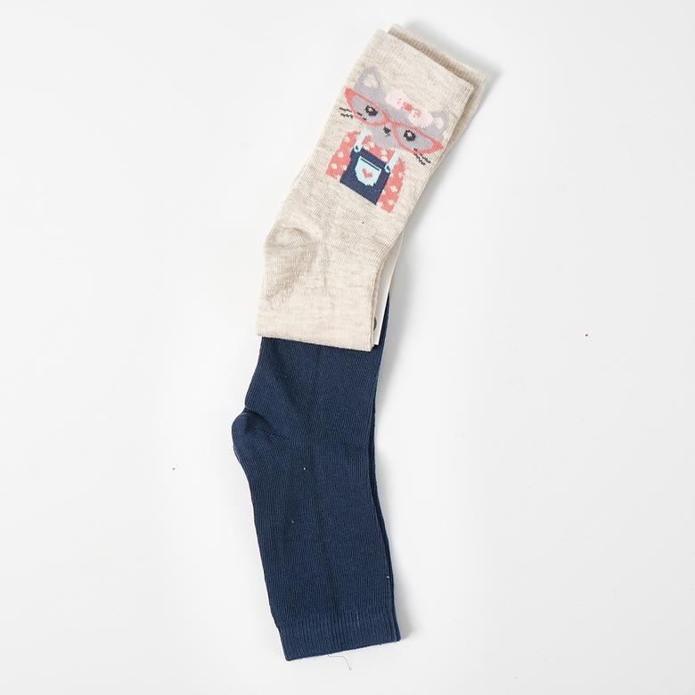 Kız Çocuk 2 li Çorap 1813635108