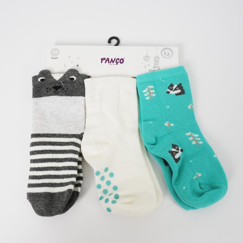 Erkek Bebek 3 lü Çorap