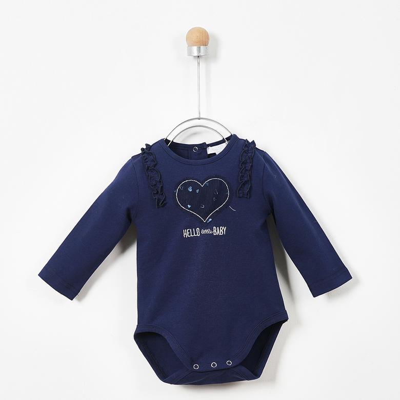Kız Bebek Uzun Kollu Çıtçıtlı Body 19243095100