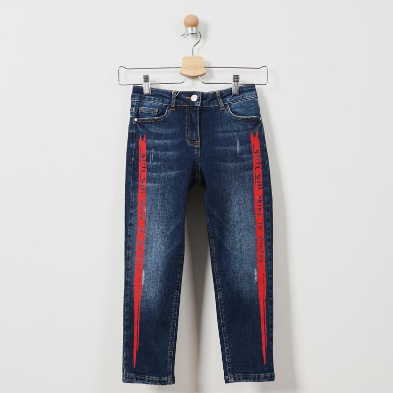 Kız Çocuk Denim Pantolon 19221014100