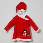 Kız Bebek Kadife Elbise 19226180100