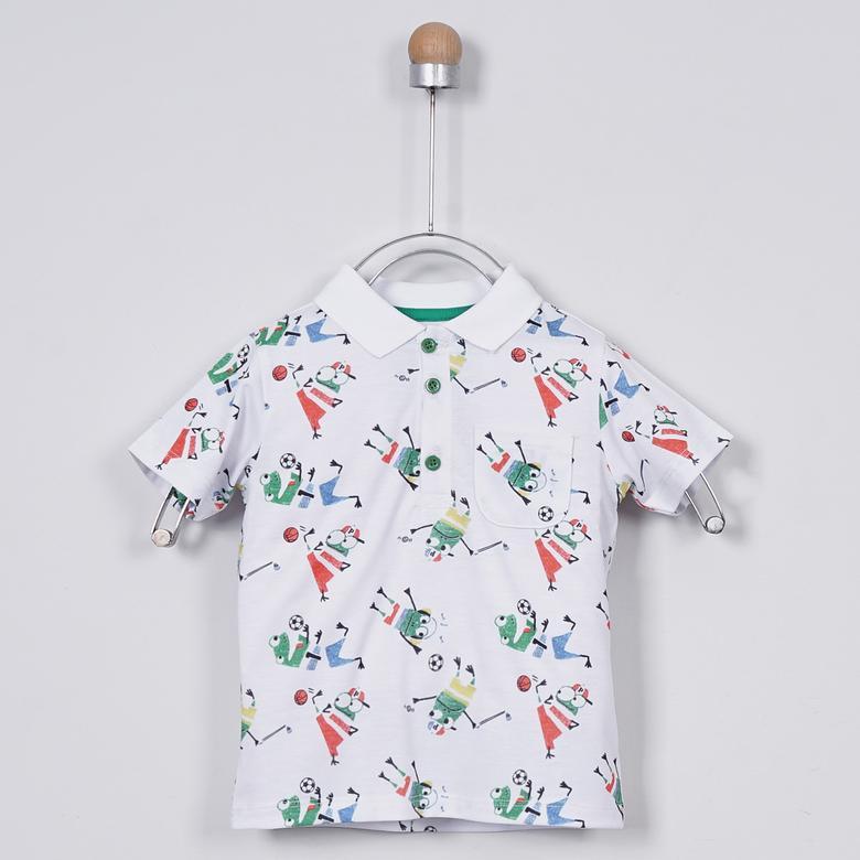 Erkek Bebek Yakalı T-Shirt 2011BB05019