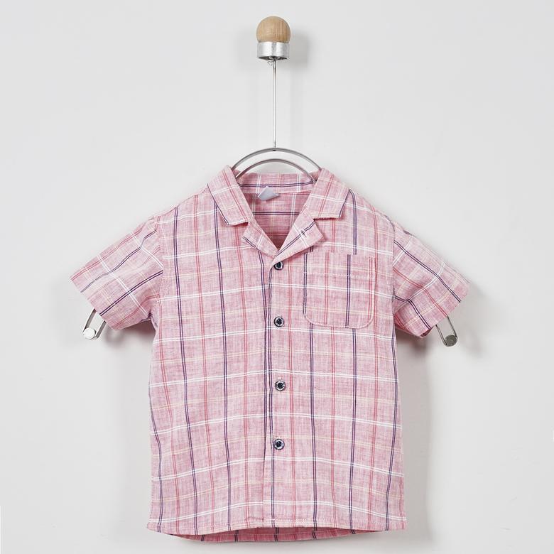 Erkek Bebek Kısa Kollu Gömlek 2011BB06003