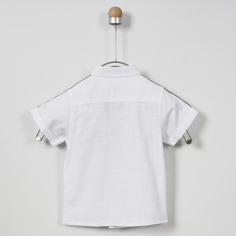 Erkek Bebek Kısa Kollu Gömlek 2011BB06009