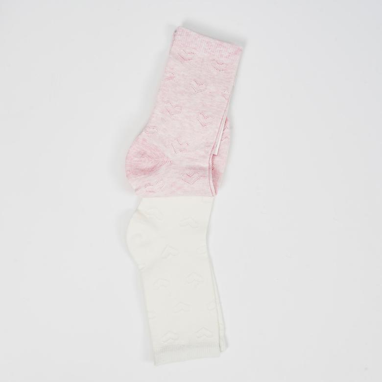 4-12 Yaş Kız 2 li Çorap 2012GK11005