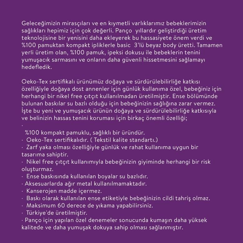 Yenidoğan 3'lü Kolsuz Body Set 9941UN20002