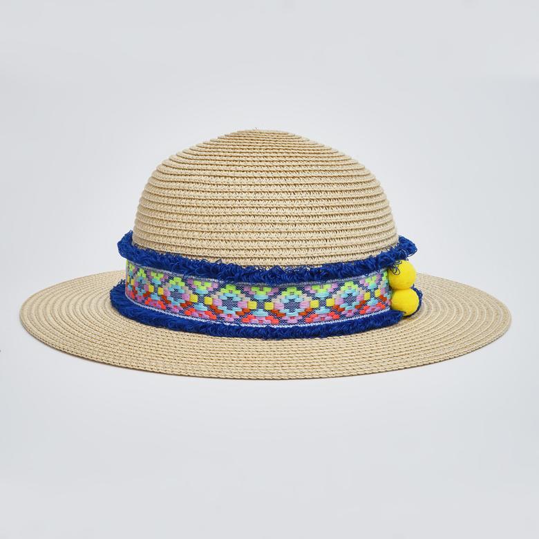 Kız Bebek Hasır Şapka 2012GB19005