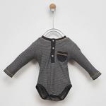 Erkek Bebek Uzun Kollu Çıtçıtlı Body 2021BB05008