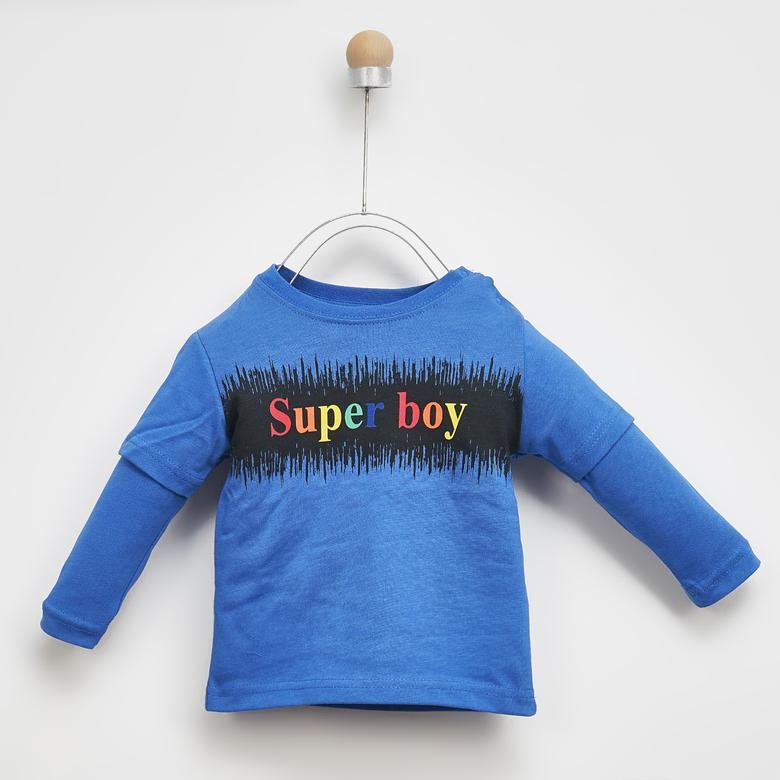 Erkek Bebek Uzun Kollu T-shirt 2021BB05005