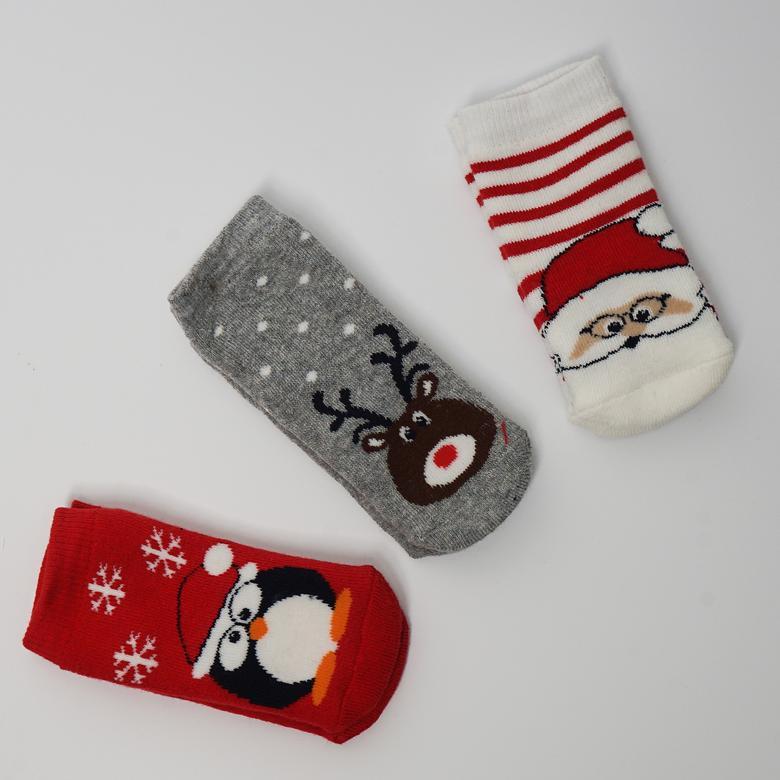Unisex Çocuk 3 lü Çorap 2022UK11001