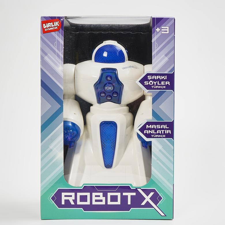 Unisex Çocuk Türkçe Sesli Kutulu Pilli Robot X Oyuncak 9932UK68001