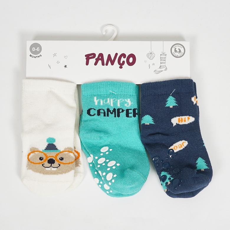 Erkek Bebek 3 lü Çorap 2022BB11004