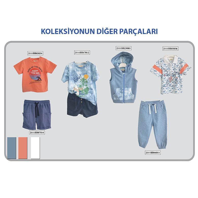 Erkek Bebek Yakalı T-Shirt 2111BB05036