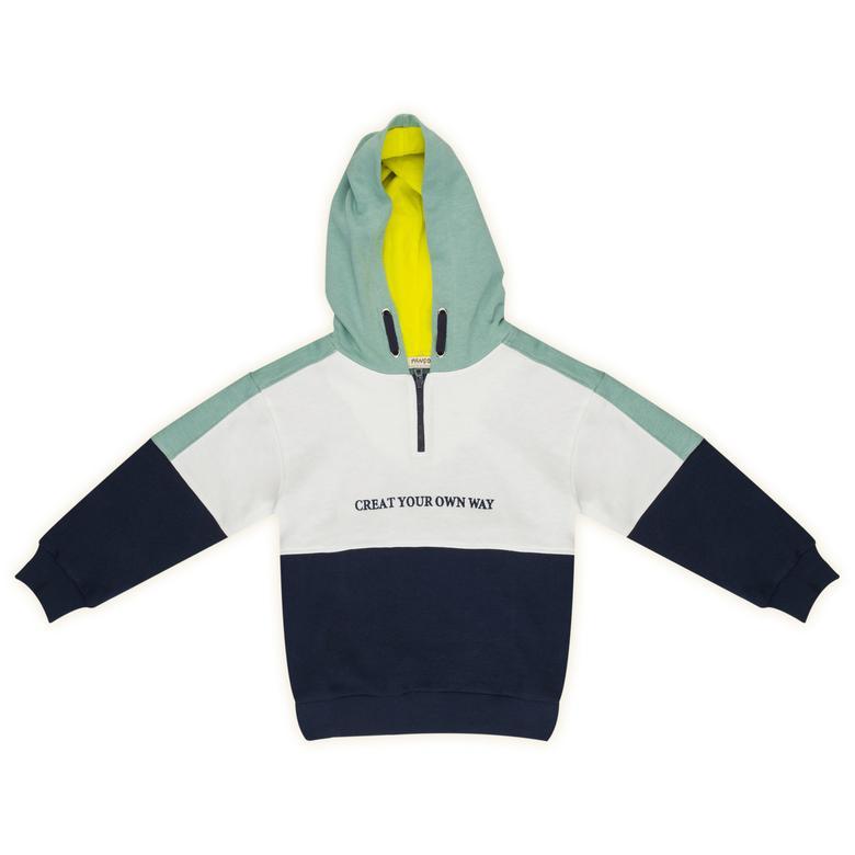 Erkek Çocuk Kapşonlu Sweatshirt 2121BK08001