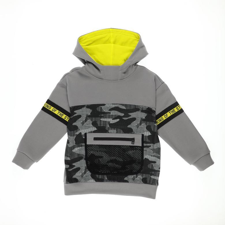 Erkek Çocuk Kapşonlu Sweatshirt 2121BK08010
