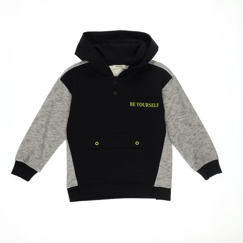 Erkek Çocuk Kapşonlu Sweatshirt 2121BK08003