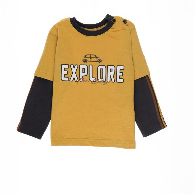 Erkek Bebek Uzun Kollu T-shirt 2121BB05007