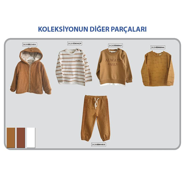 Erkek Bebek Uzun Kollu T-shirt 2121BB05029