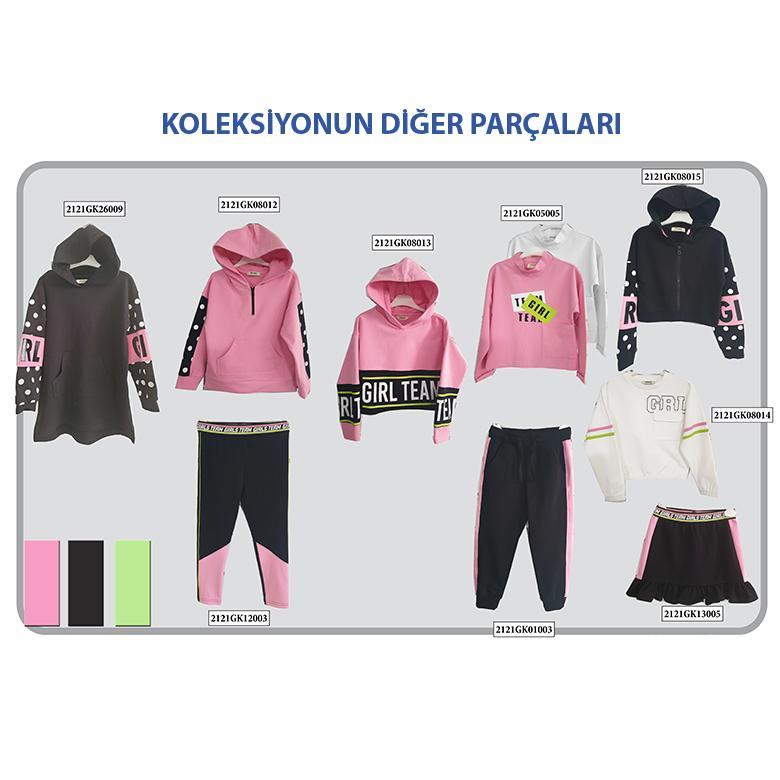 Kız Çocuk Fermuarlı Sweat 2121GK08015