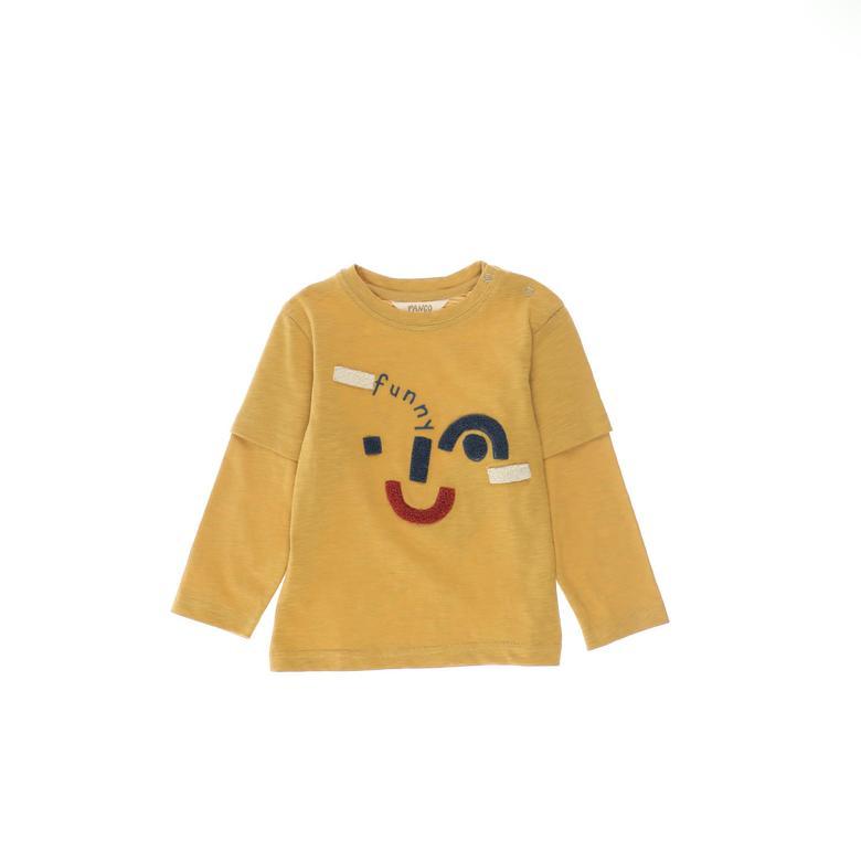Erkek Bebek Uzun Kollu T-shirt 2121BB05010