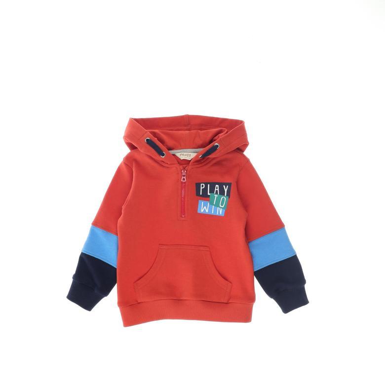 Erkek Bebek Kapşonlu Sweatshirt 2121BB08019